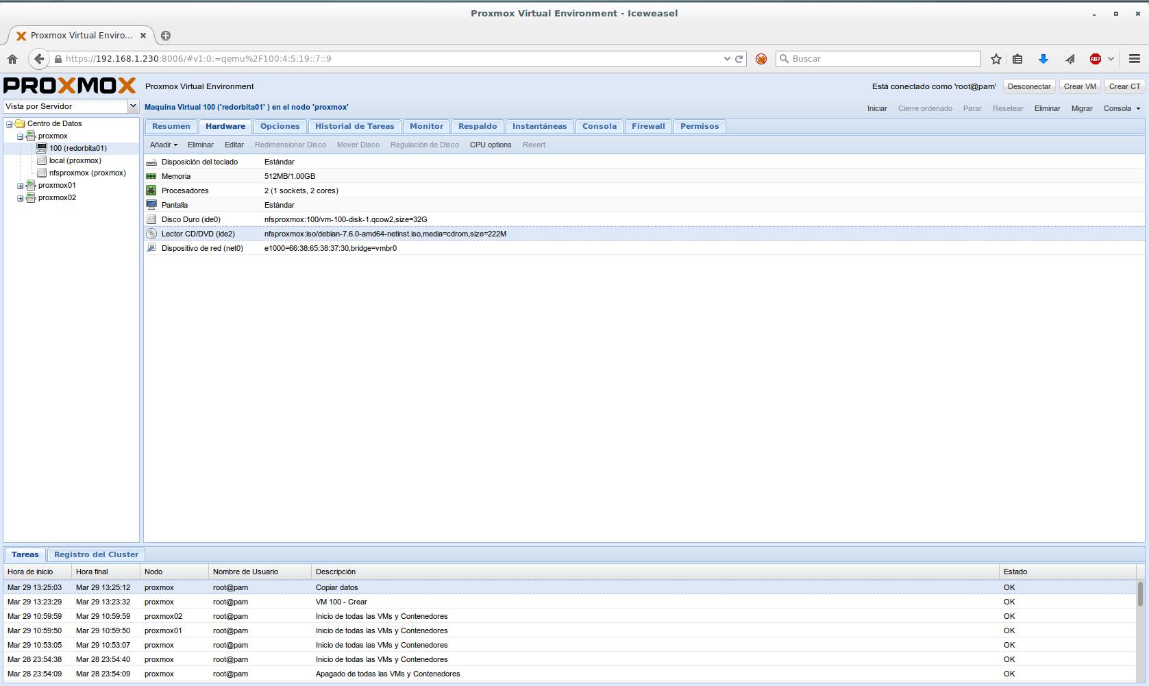 Instalar maquinas virtuales en PROXMOX | Red-Orbita
